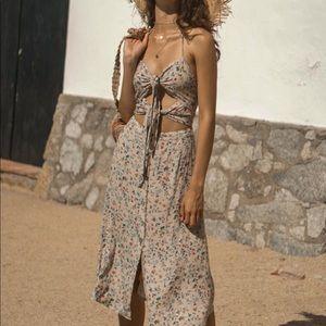 Seven Wonders Label Adeline Boho Slip midi dress.